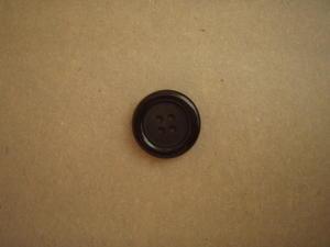 Knapp 4-håls 20.5mm fg. 1950 Svart