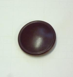 Läderknapp 32mm Brun