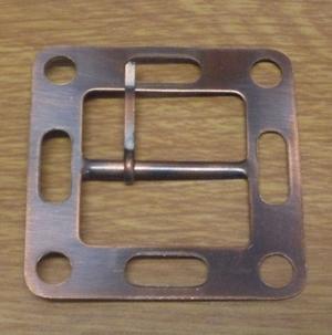 Fyrkantig Metallspänne Kopparoxid