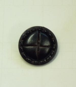 Läderknapp 25mm Mörkbrun