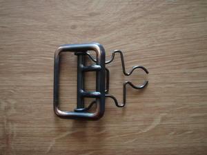 Metallspänne 45mm med bygel 2 dorn Kopparoxid