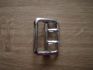 Metallspänne 2 dorn 45mm Förnicklad