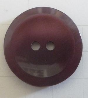 Knapp 2-håls 25 Vinröd 16,5mm