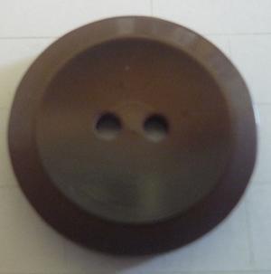 Knapp 2-håls 21 Brun 18mm