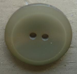Knapp 2-håls 25 Ljusgrön 15mm