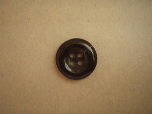 Knapp 4-håls 25.5mm fg. Svart